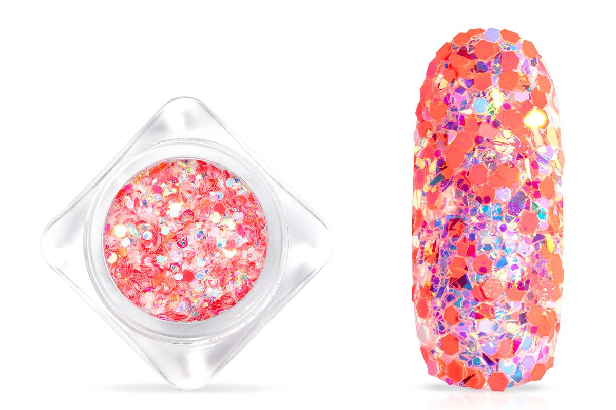 Jolifin Candy Glitter - hot peach