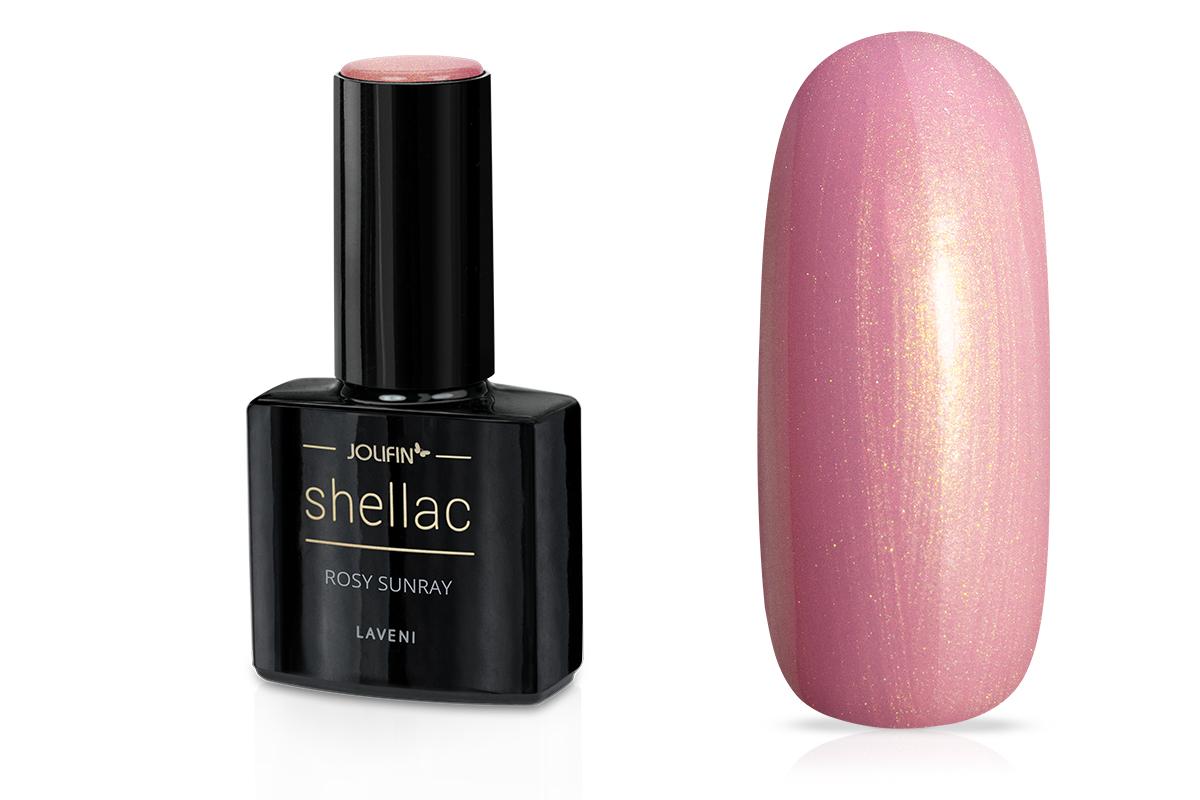 Jolifin LAVENI Shellac - rosy sunray 12ml