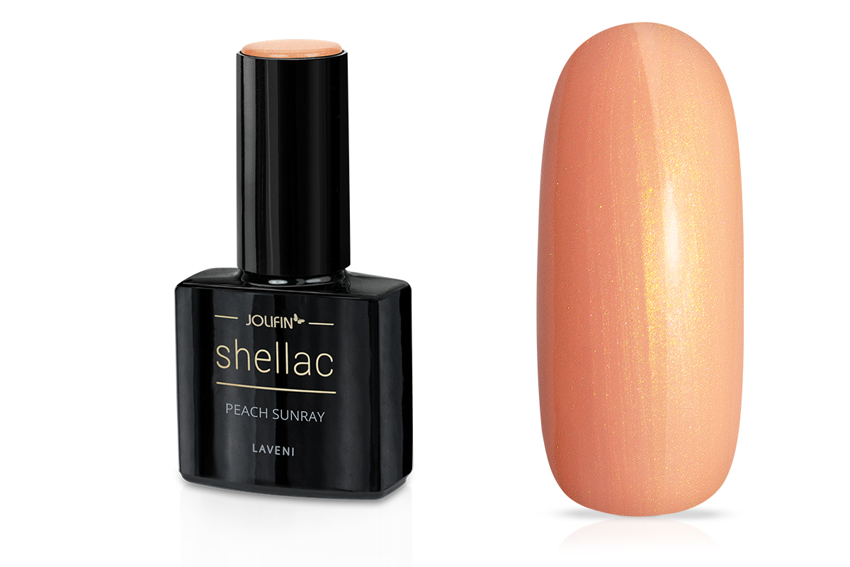 Jolifin LAVENI Shellac - peach sunray 12ml