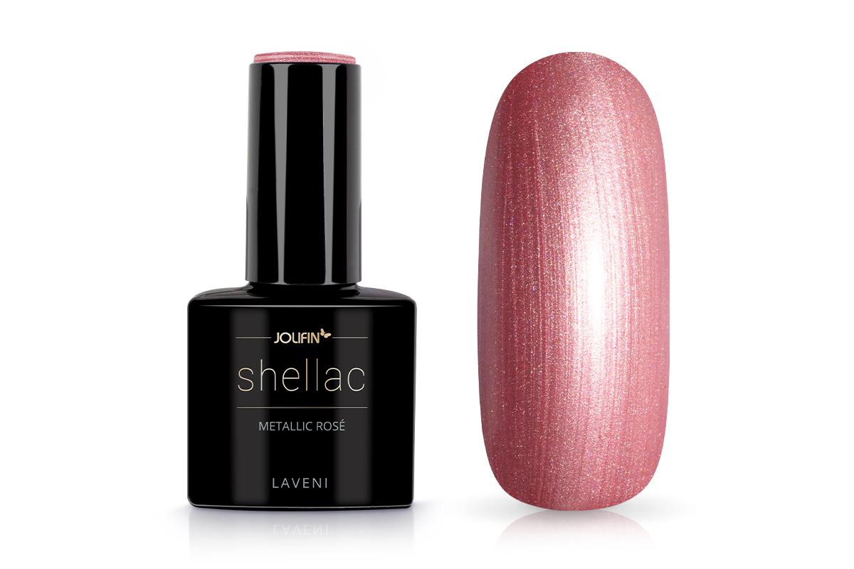 Jolifin LAVENI Shellac - metallic rosé 12ml