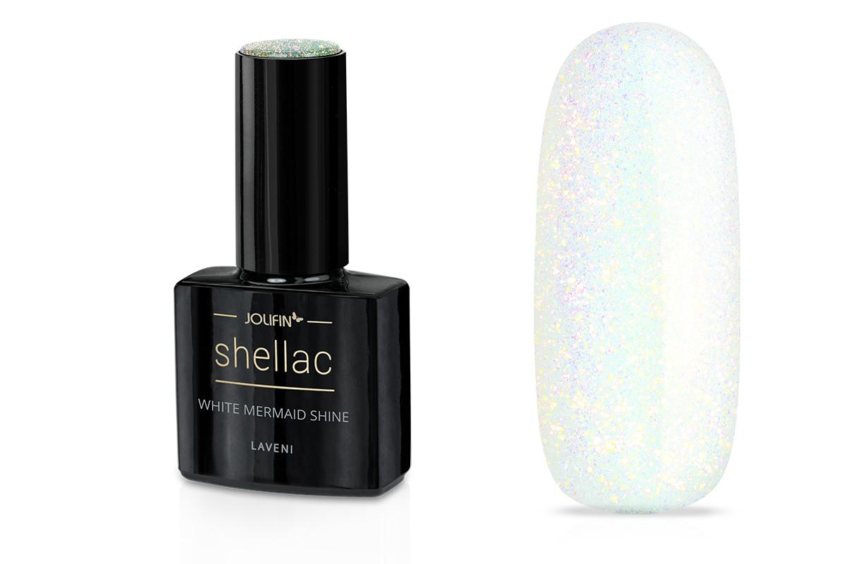 Jolifin LAVENI Shellac - white mermaid shine 12ml