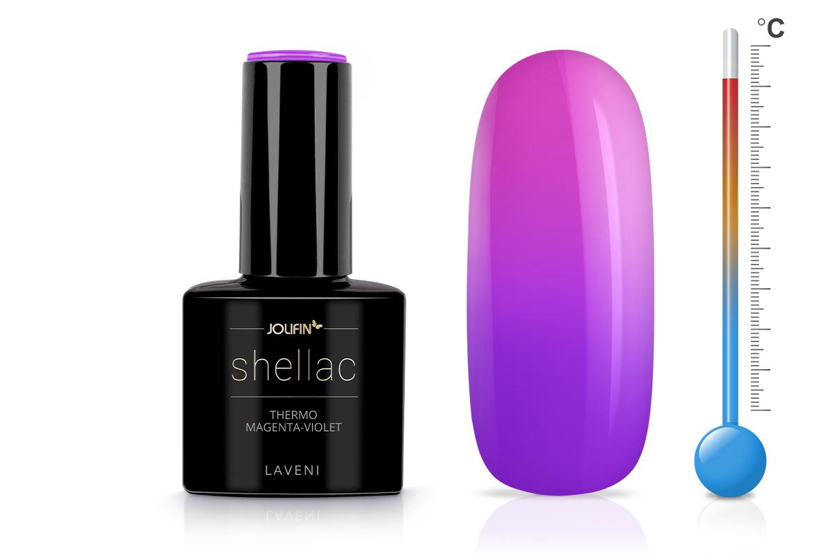 Jolifin LAVENI Shellac - Thermo magenta-violet 12ml