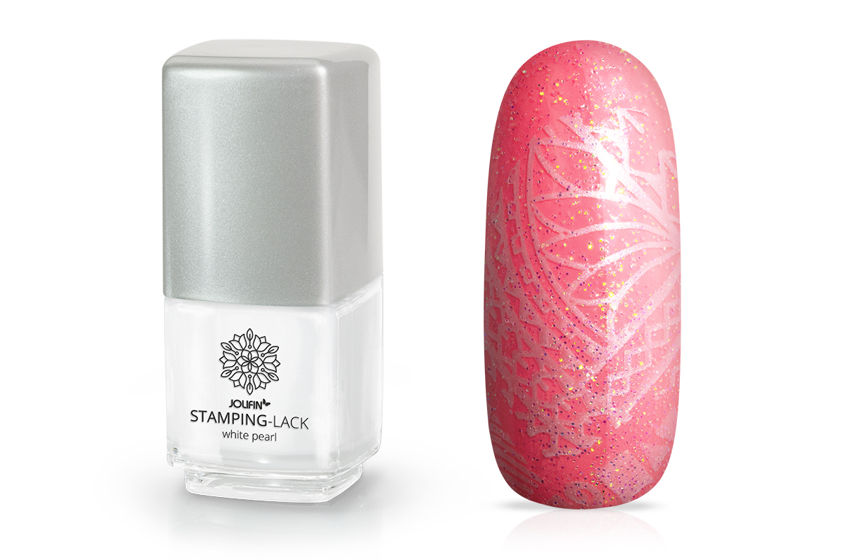 Jolifin Stamping-Lack - white pearl 12ml