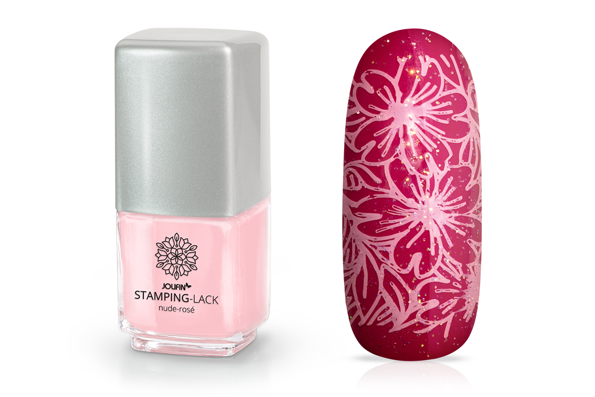 Jolifin Stamping-Lack - nude-rosé 12ml