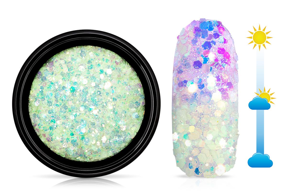 Jolifin LAVENI Solar Glitter - mint-violet