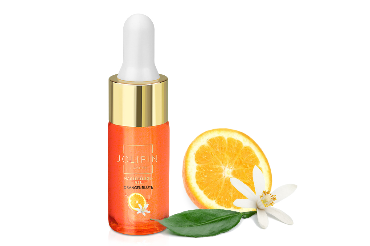 Jolifin LAVENI Nagelpflege-Gel - Orangenblüte 10ml