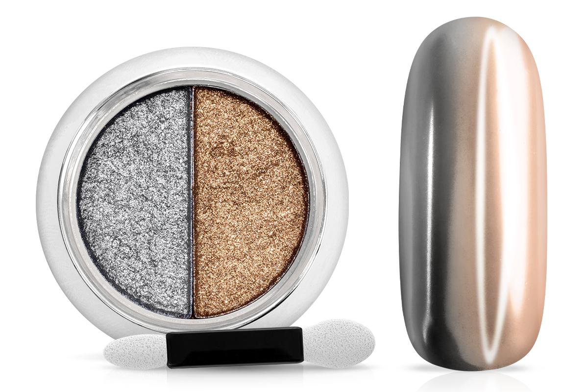 Jolifin Mirror-Chrome Compact Pigment - silver & copper