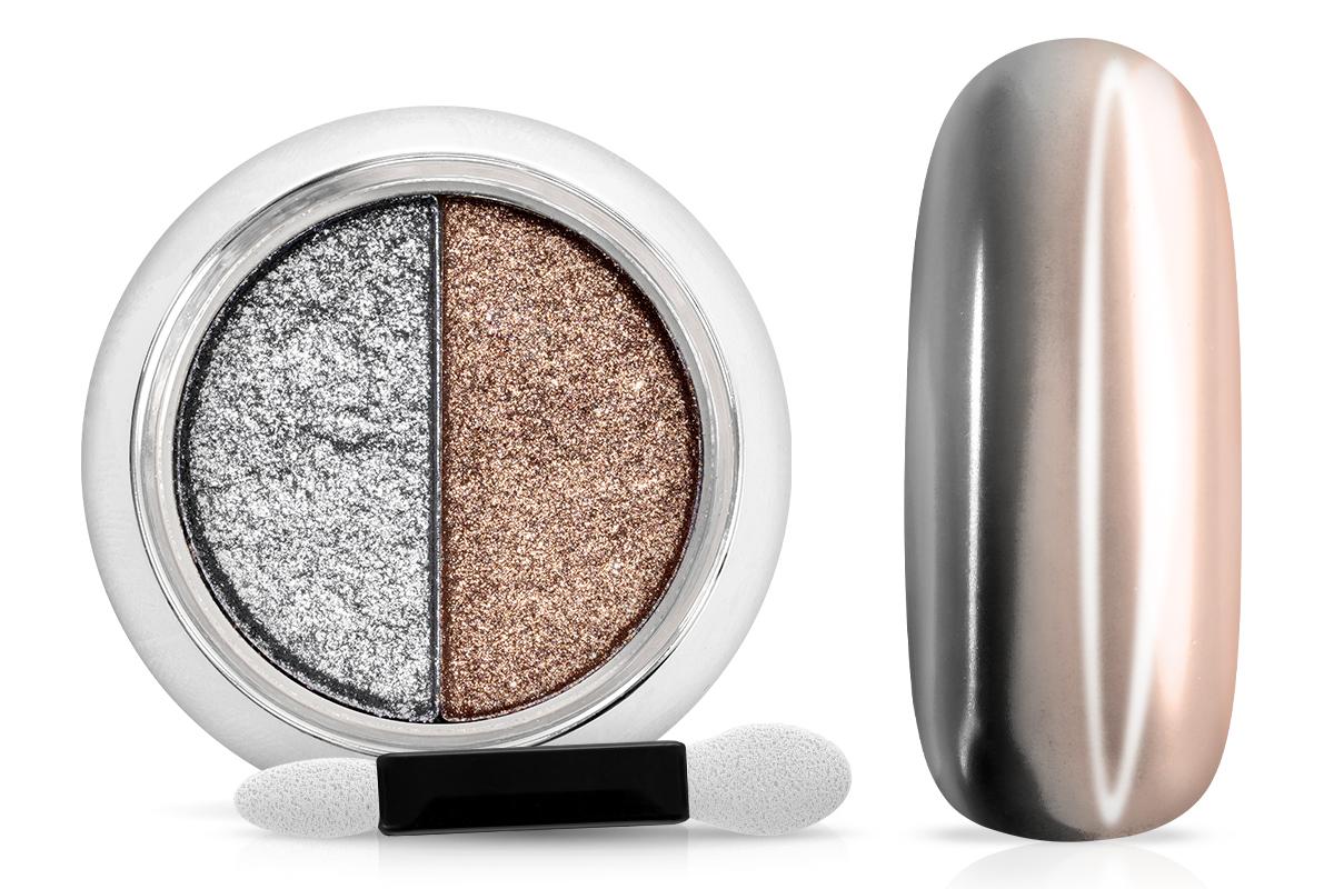 Jolifin Mirror-Chrome Compact Pigment - silver & light copper