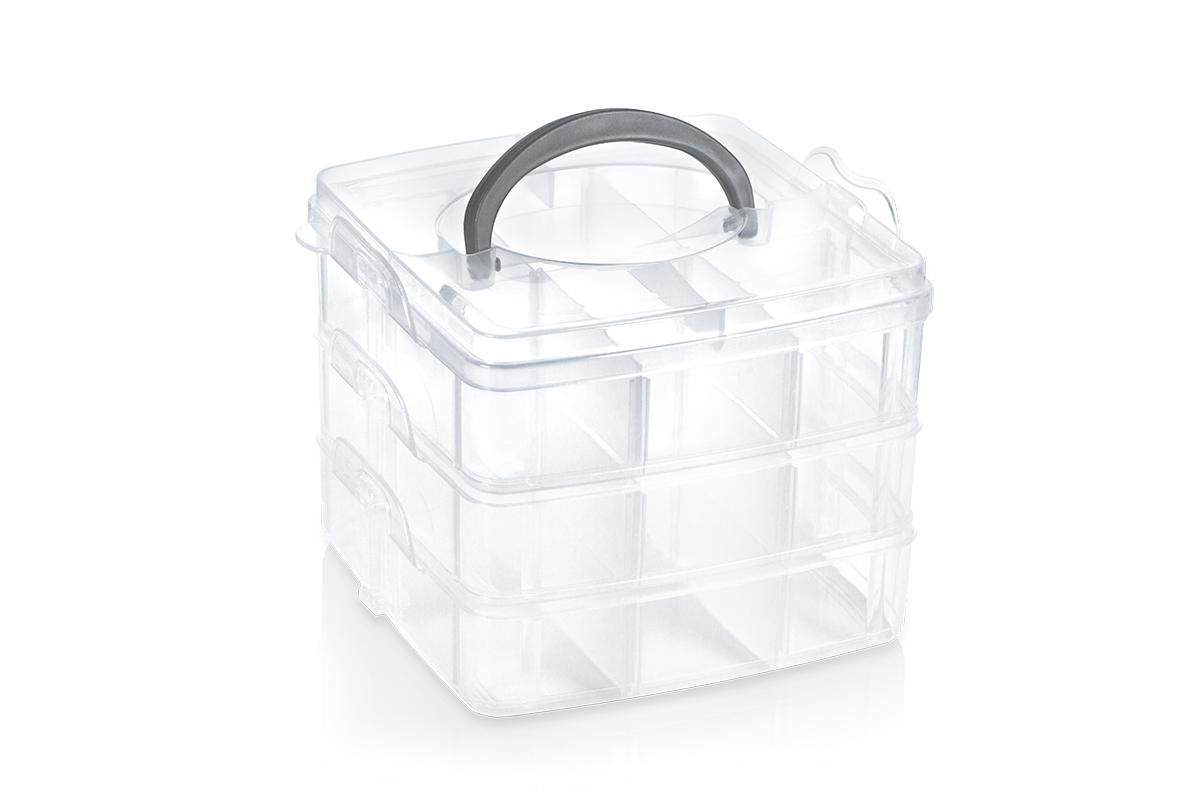 Jolifin Sortierbox stapelbar - clear