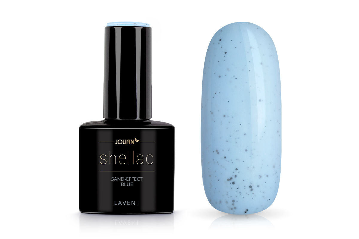 Jolifin LAVENI Shellac - sand-effect blue 12ml