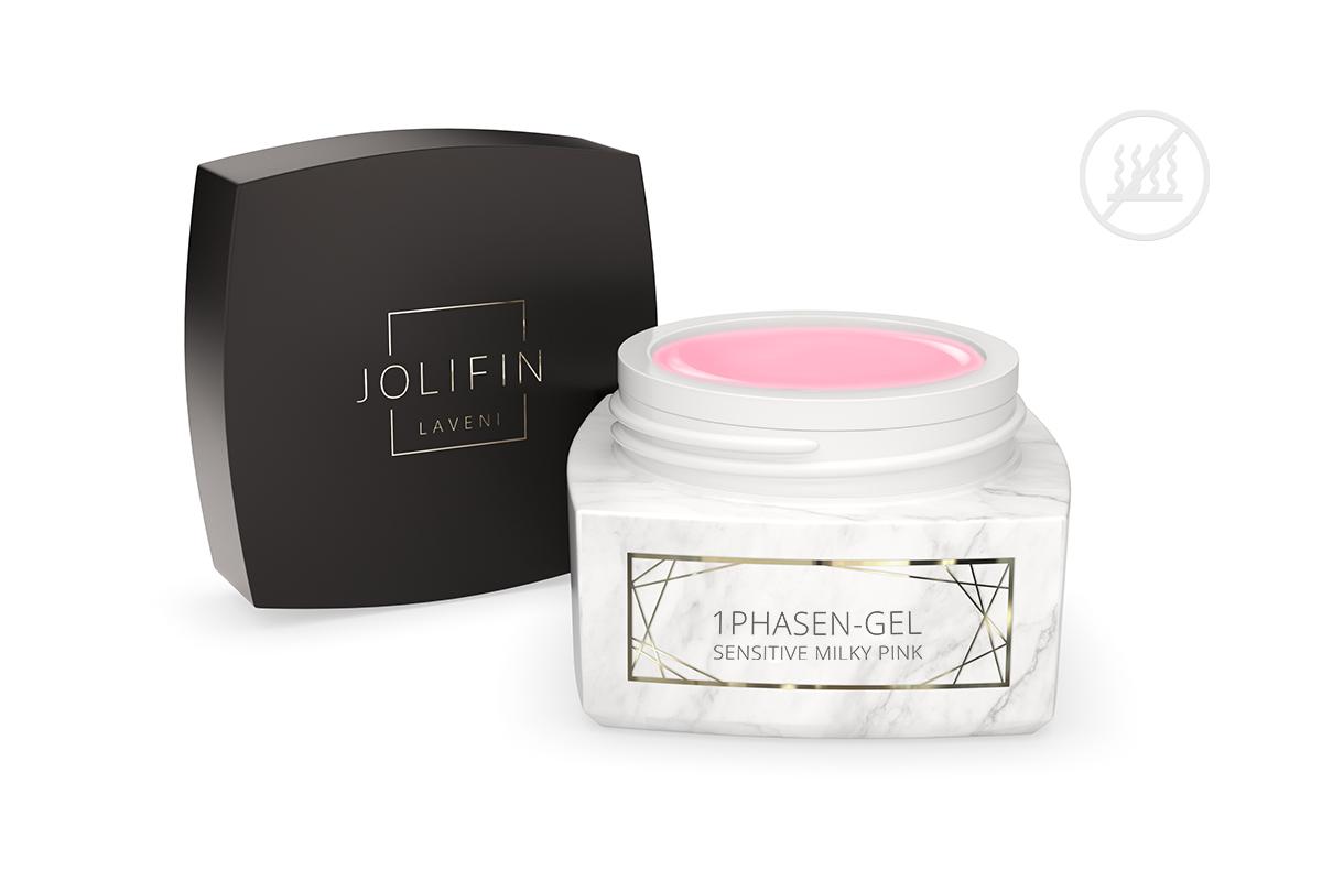 Jolifin LAVENI PRO - 1Phasen-Gel sensitive milky pink 15ml