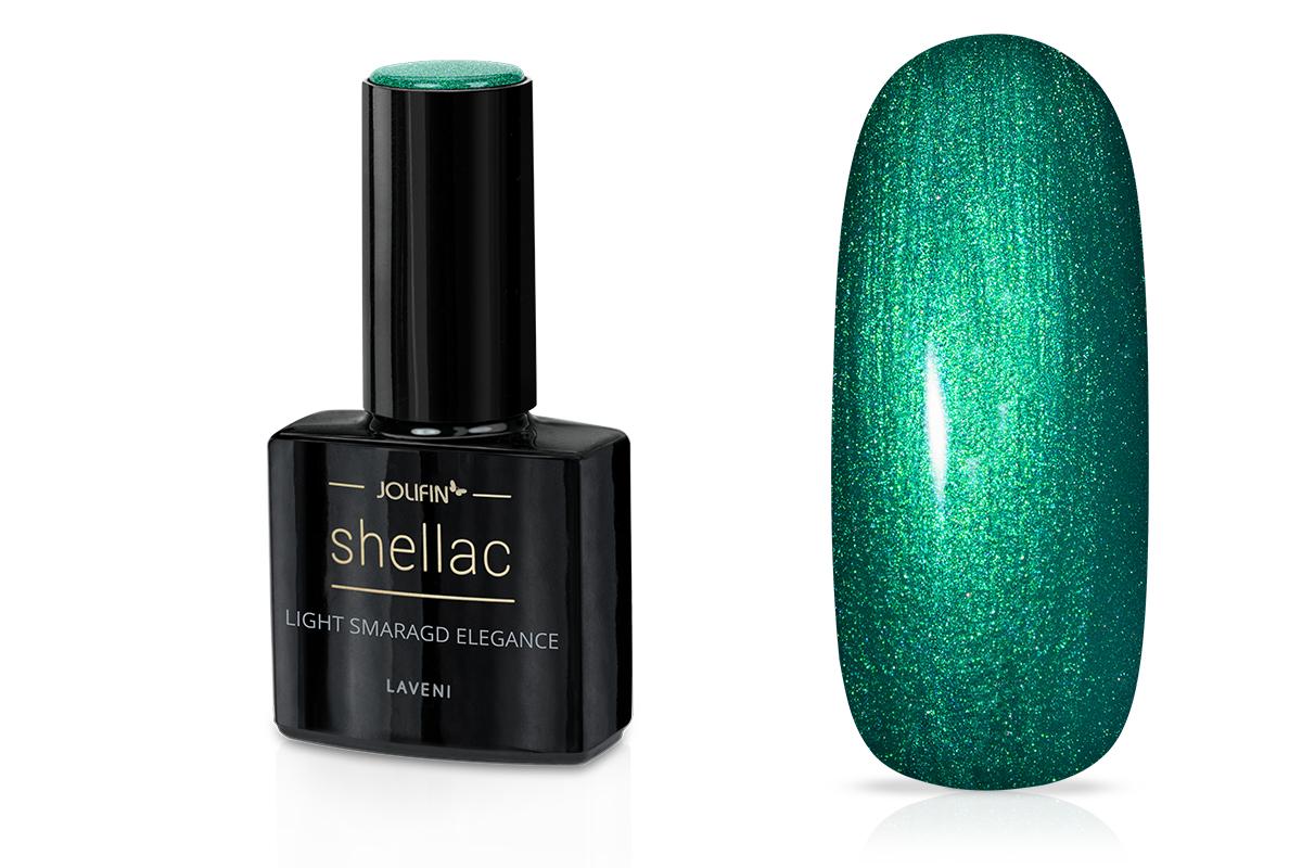 Jolifin LAVENI Shellac - light smaragd elegance 12ml