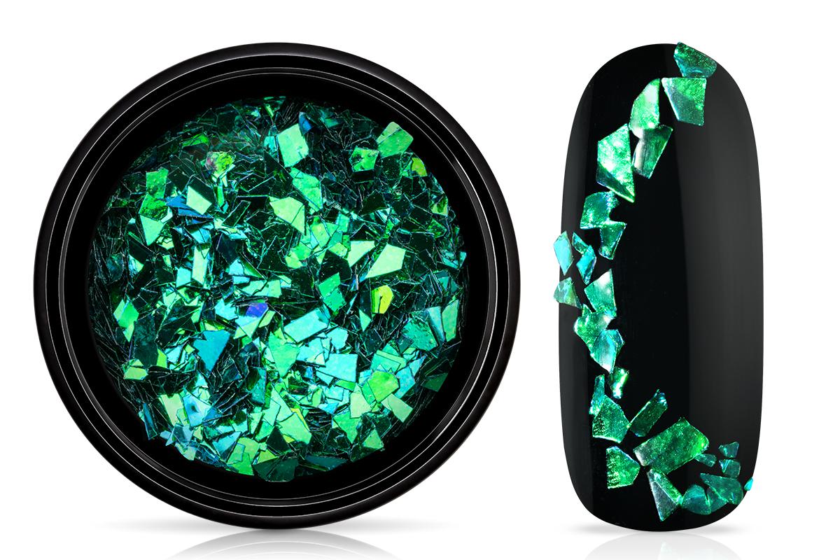 Jolifin LAVENI Foil Flakes - chameleon smaragd