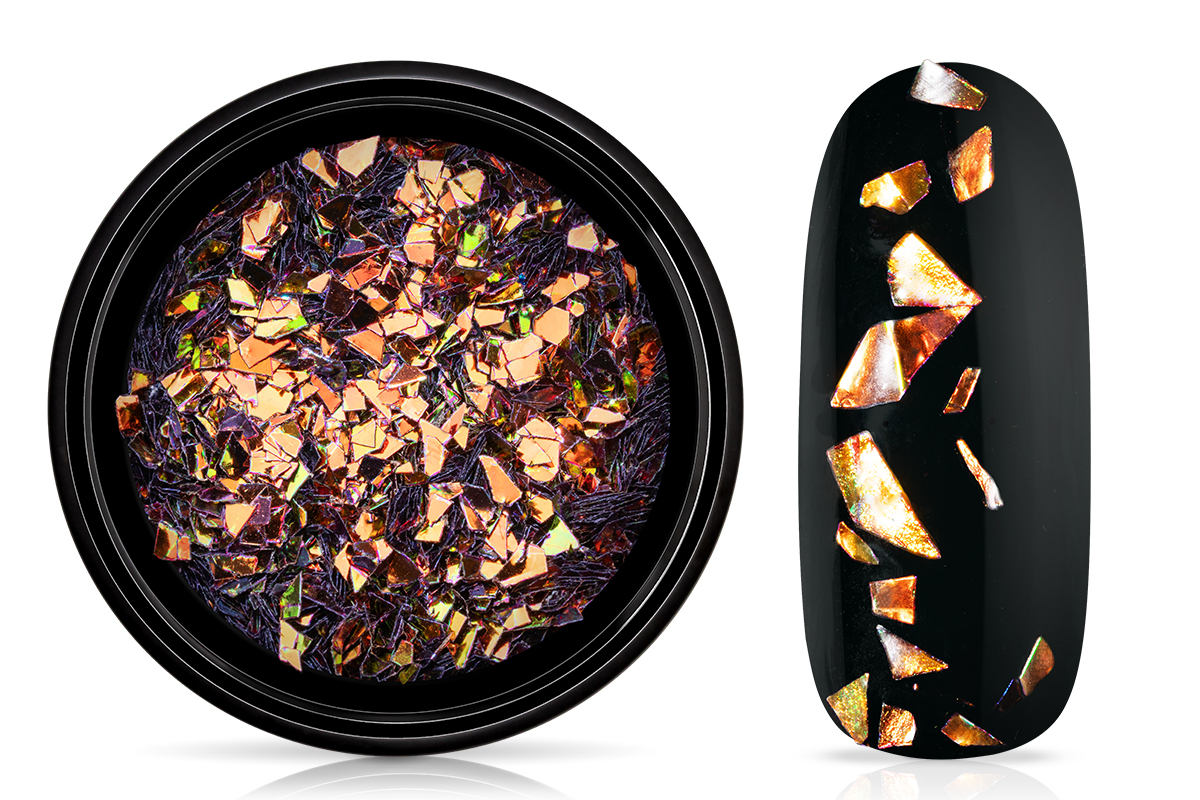 Jolifin LAVENI Foil Flakes - chameleon copper