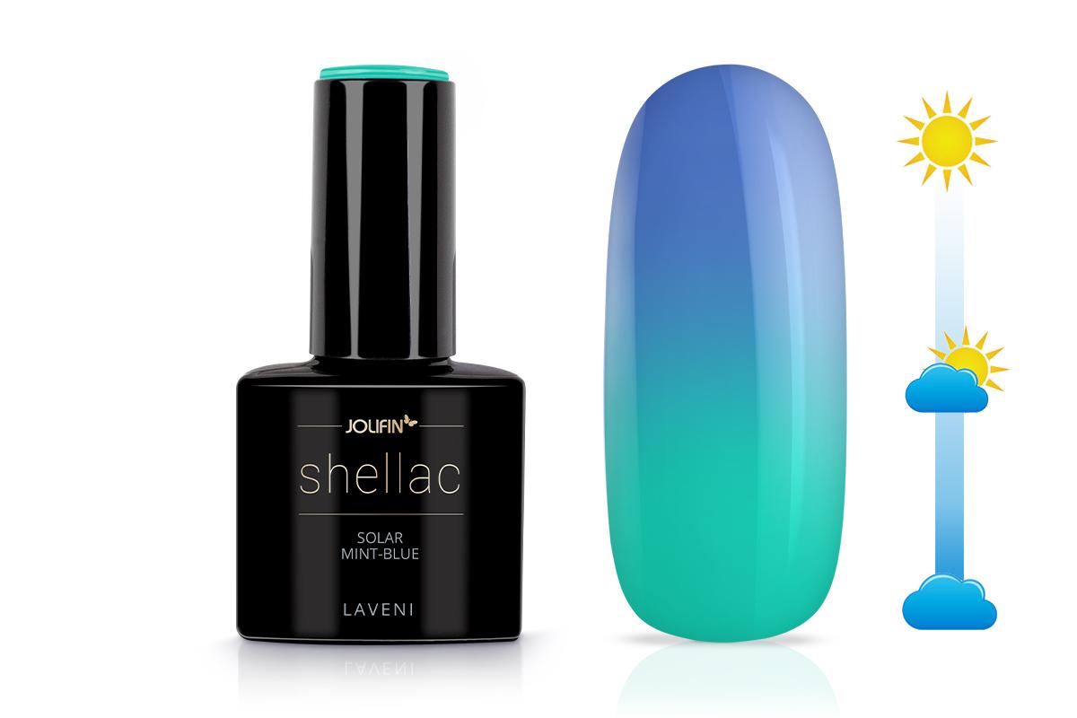Jolifin LAVENI Shellac - Solar mint-blue 12ml