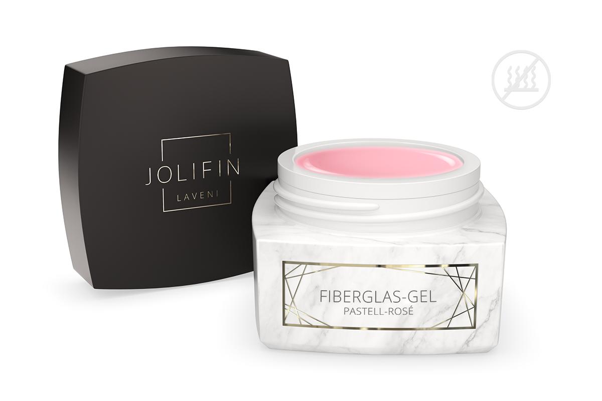 Jolifin LAVENI PRO - Fiberglas-Gel pastell-rosé 30ml