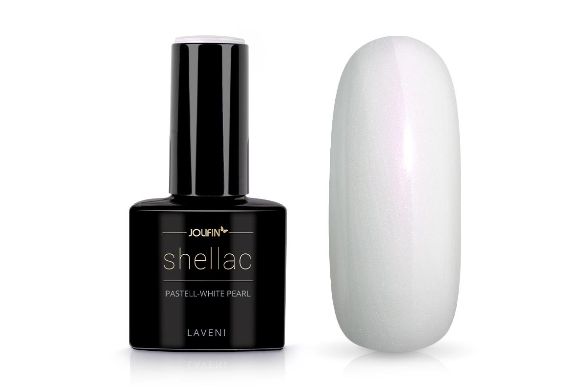 Jolifin LAVENI Shellac - pastell-white pearl 12ml