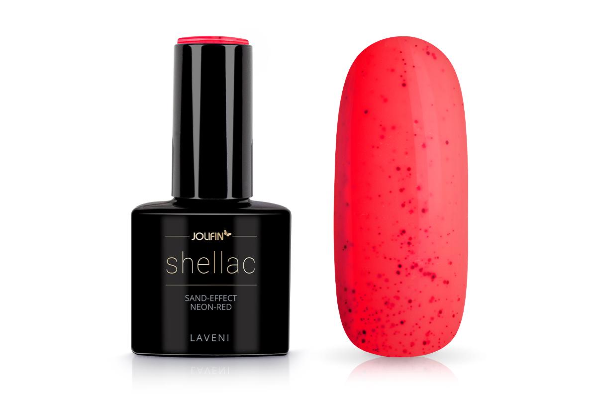 Jolifin LAVENI Shellac - Sand-Effect neon-red 12ml