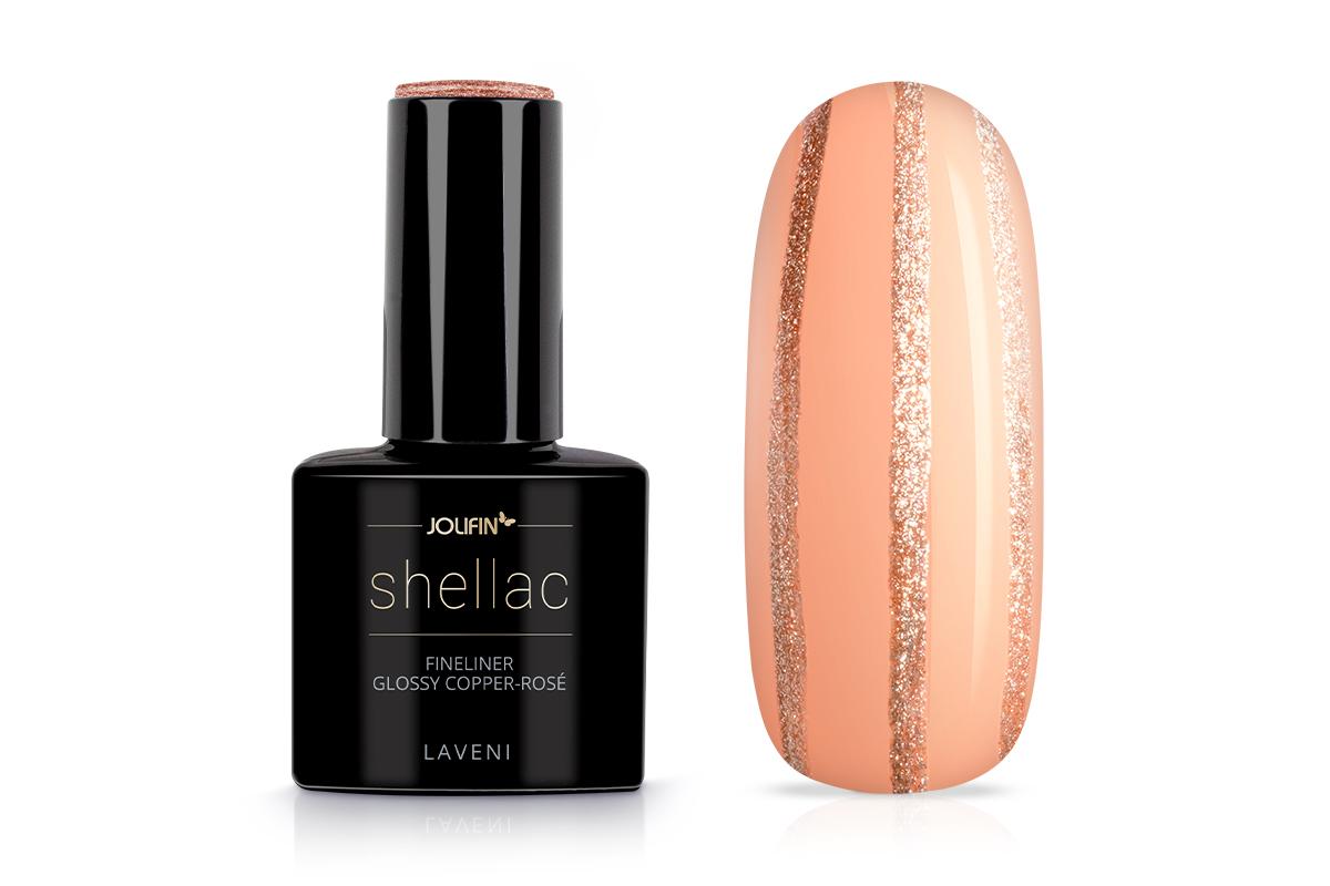 Jolifin LAVENI Shellac Fineliner - glossy copper-rosé 12ml