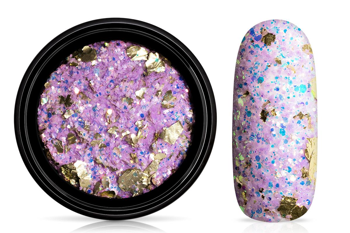 Jolifin LAVENI Foil Flakes Glitter - gold & lavender