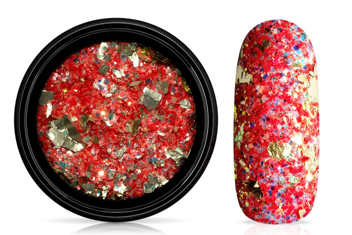 Jolifin LAVENI Foil Flakes Glitter - gold & fire