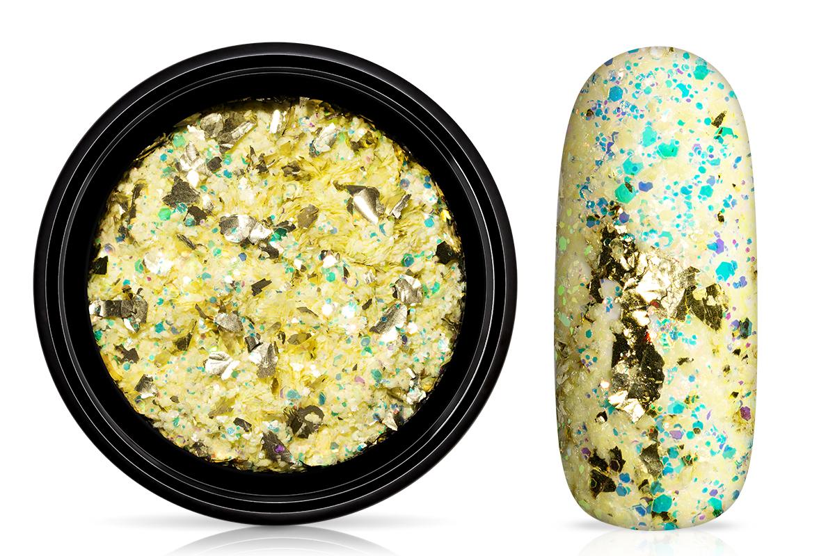 Jolifin LAVENI Foil Flakes Glitter - gold & yellow