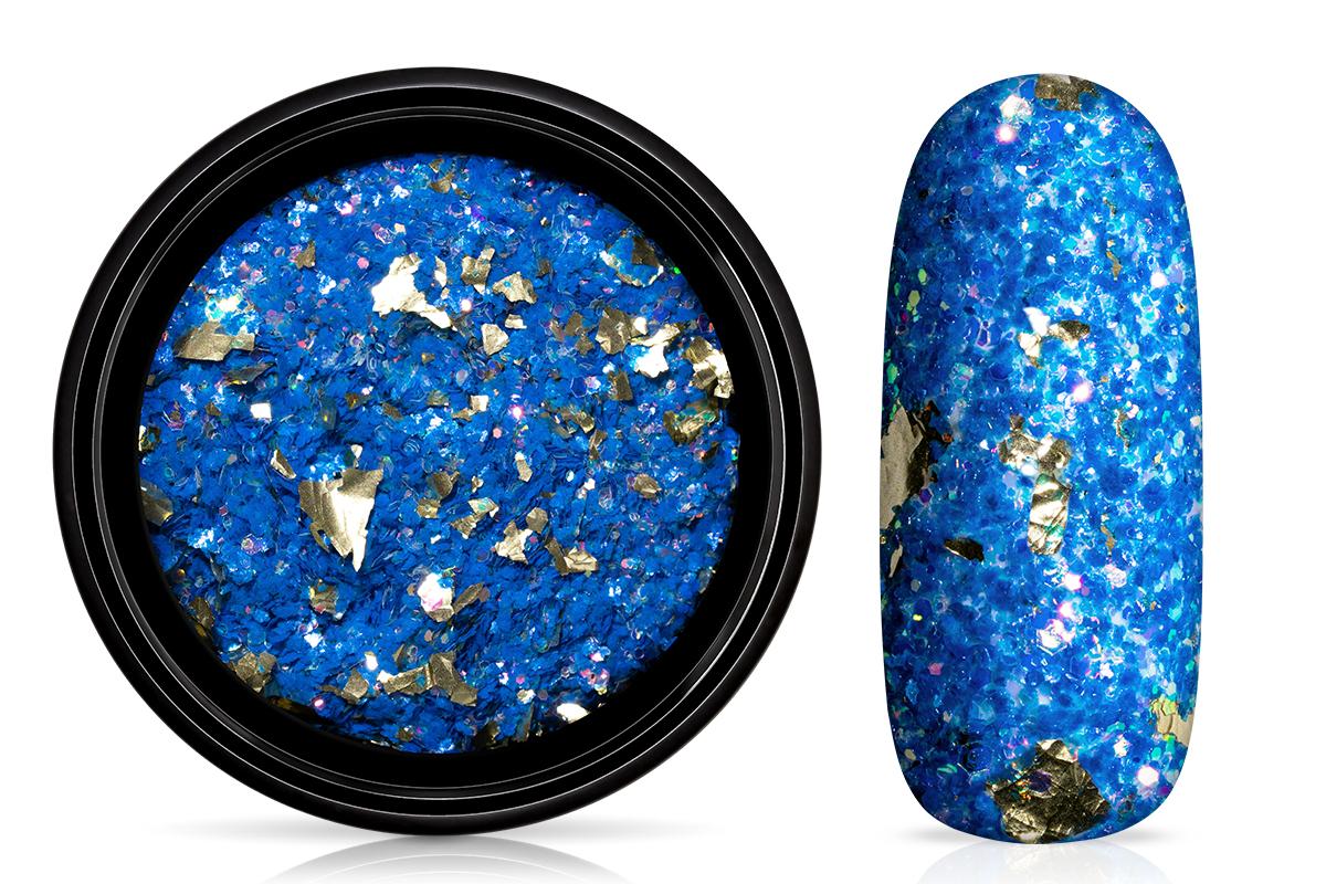 Jolifin LAVENI Foil Flakes Glitter - gold & blue