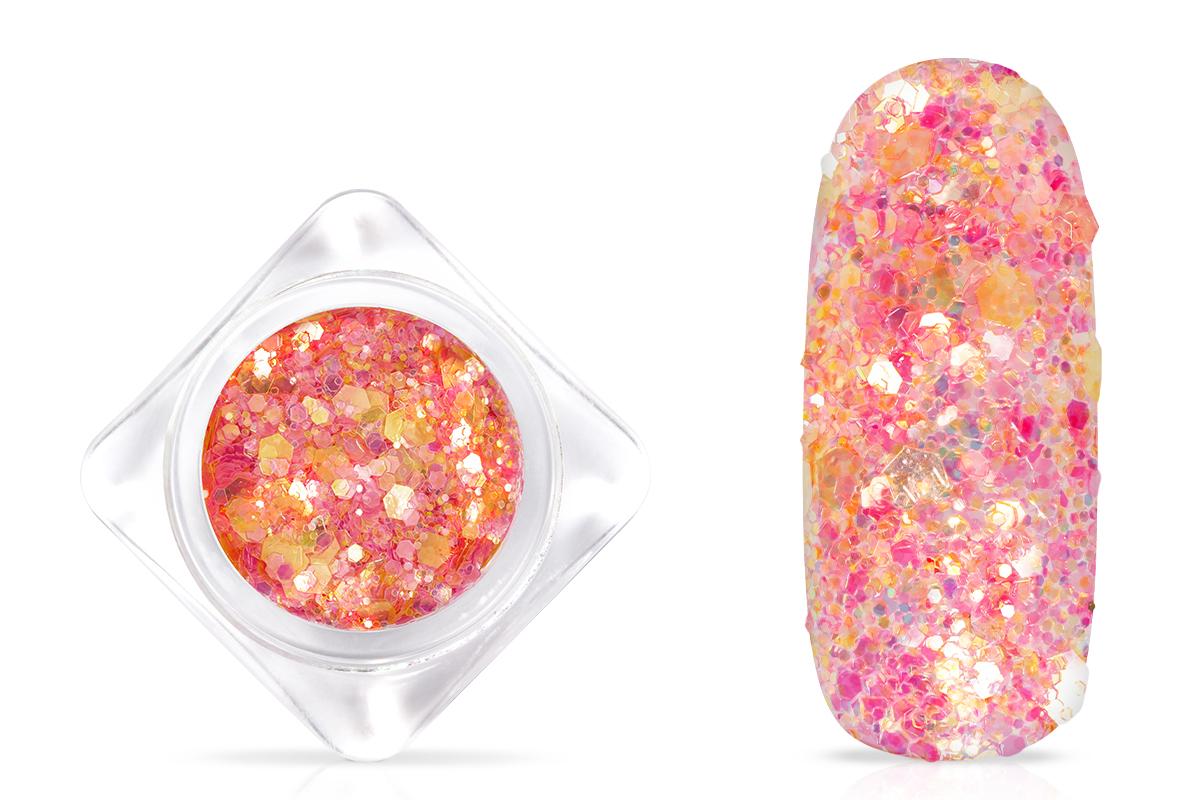 Jolifin Hexagon Glitter - peach fire