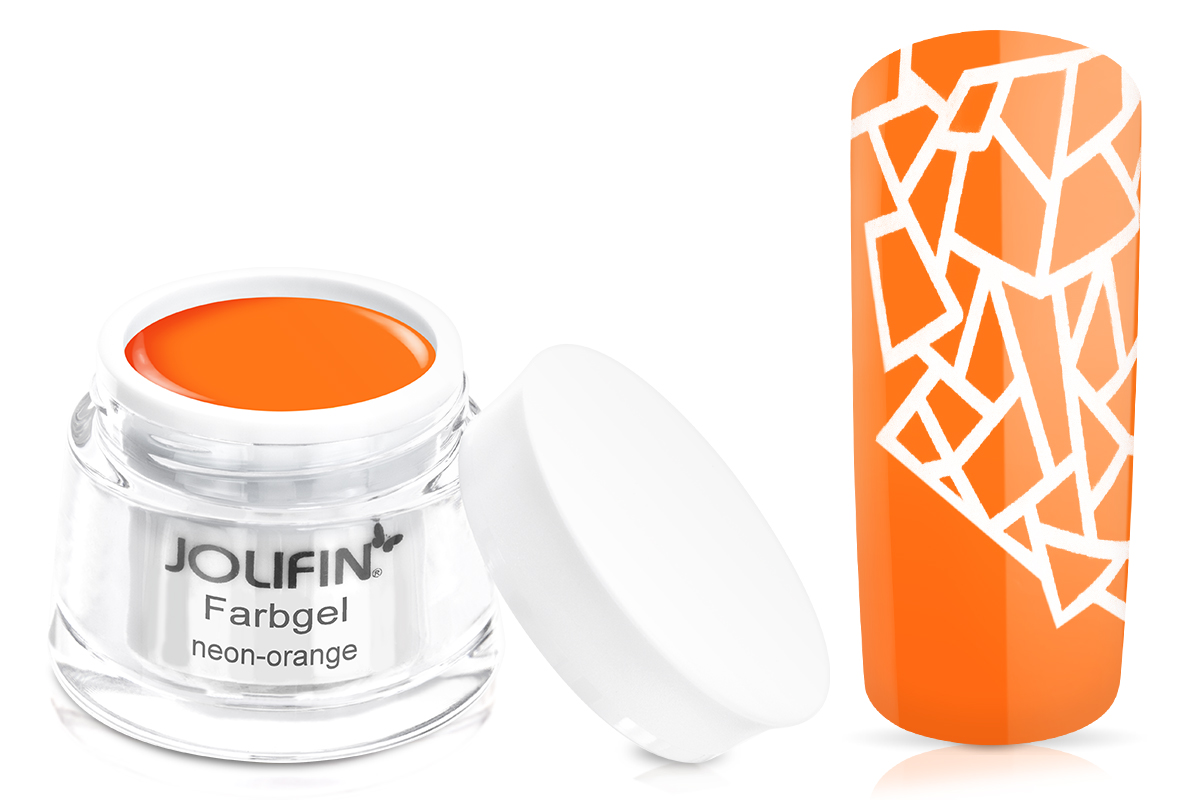 Jolifin Farbgel 4plus neon-orange 5ml