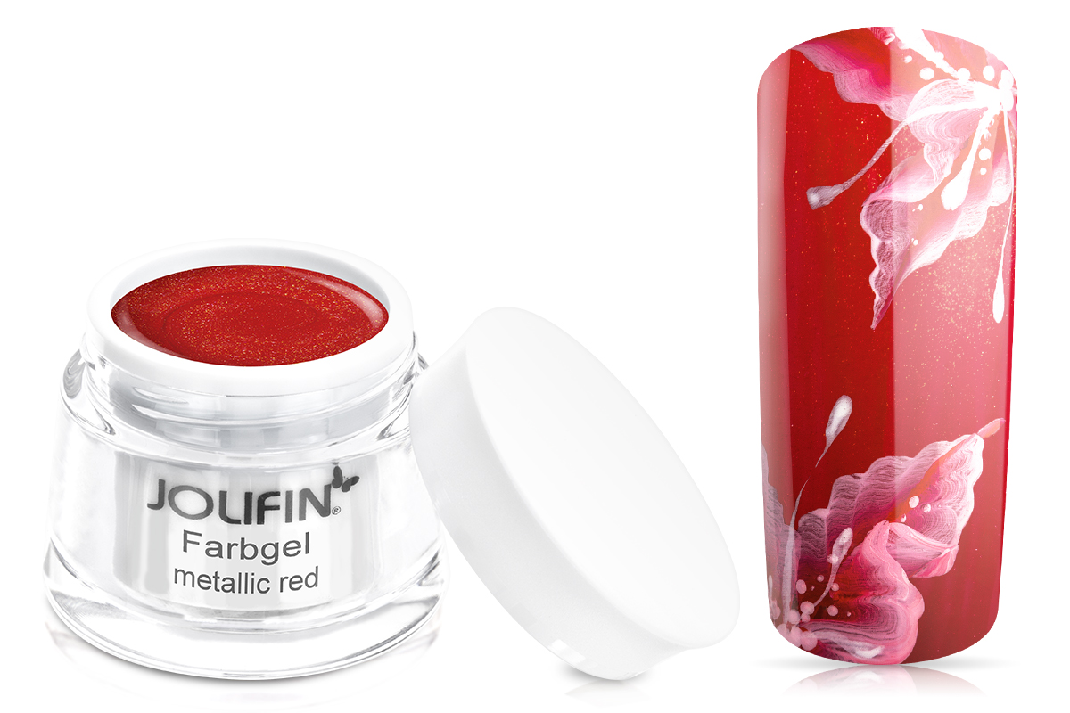Jolifin Farbgel 4plus metallic red 5ml