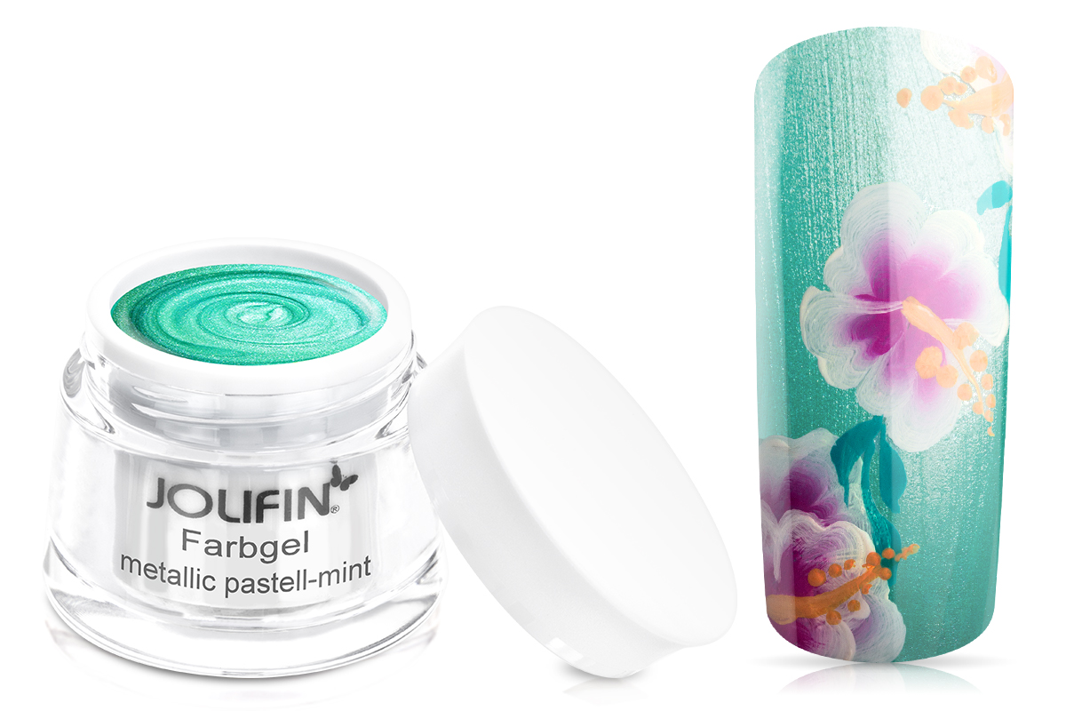 Jolifin Farbgel metallic pastell-mint 5ml