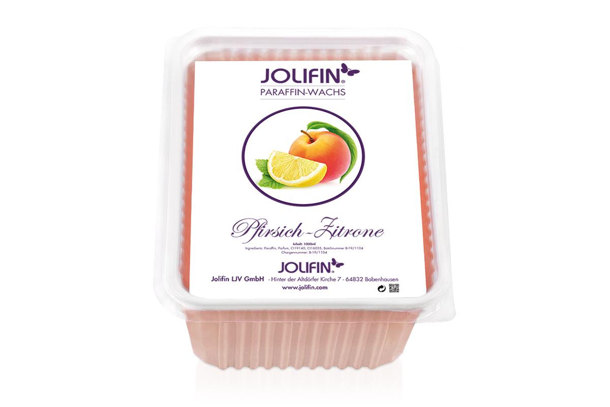Jolifin Paraffin Ersatzblock - Pfirsich-Zitrone 1L