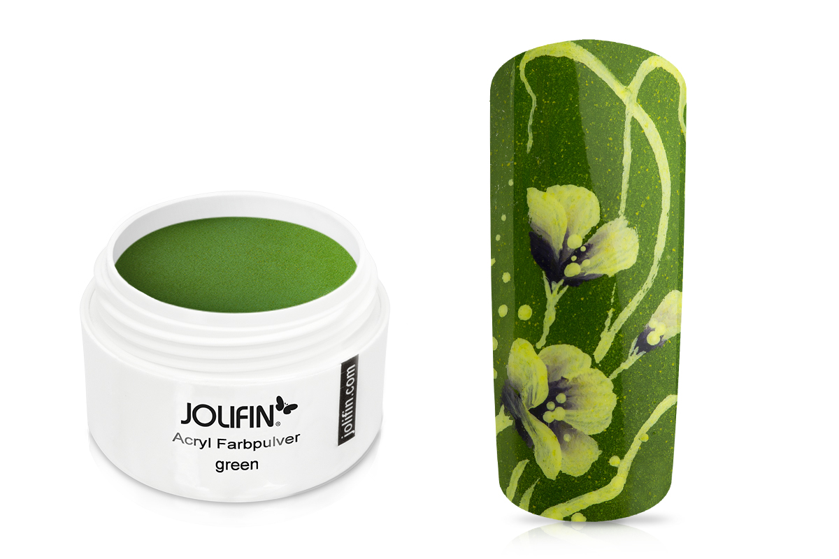 Jolifin Acryl Farbpulver green 5g