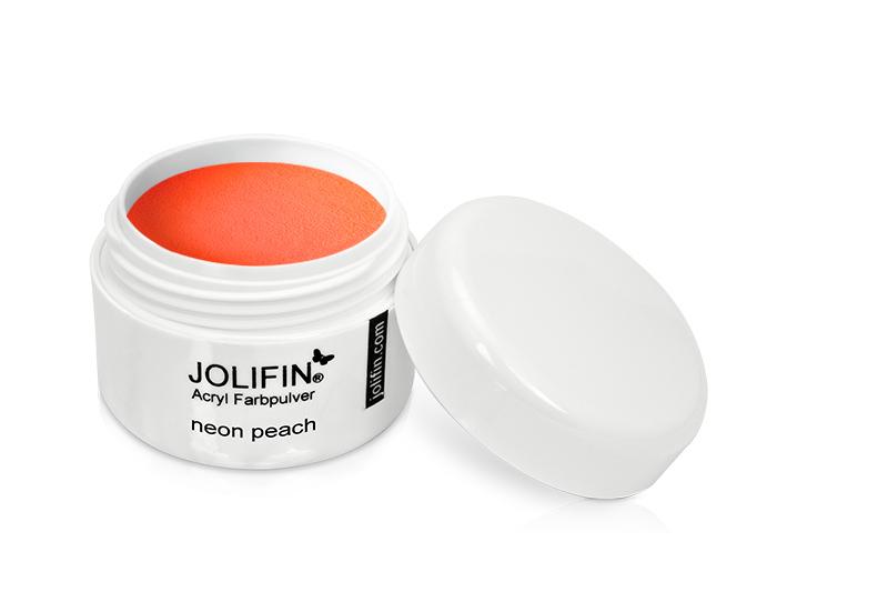Jolifin Acryl Farbpulver neon peach 5g