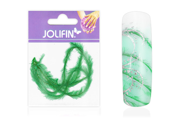 Jolifin Nailart Feder green