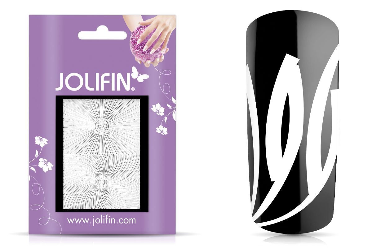 Jolifin Fancy Nail Sticker white 2