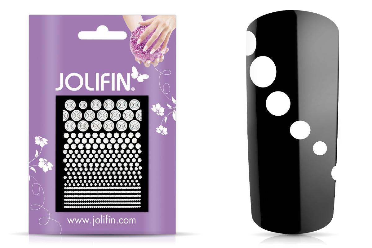 Jolifin Fancy Nail Sticker white 3