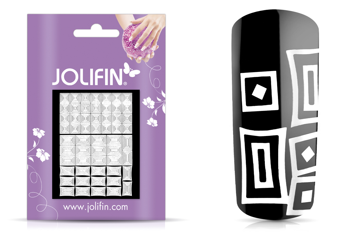 Jolifin Fancy Nail Sticker white 6