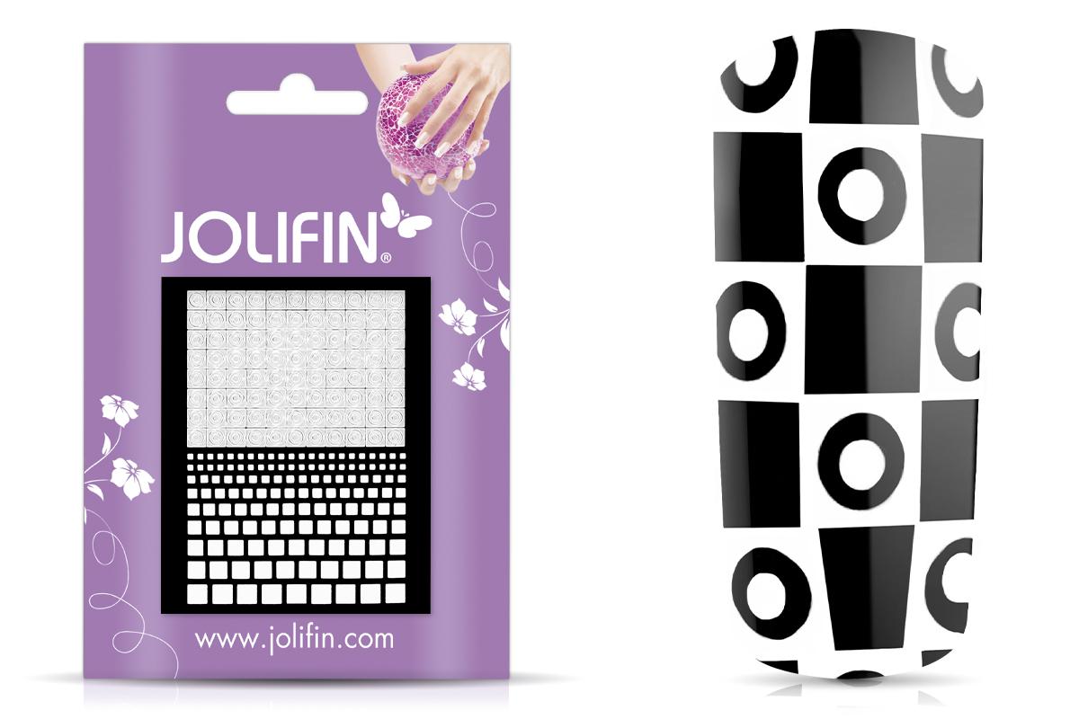 Jolifin Fancy Nail Sticker white 8