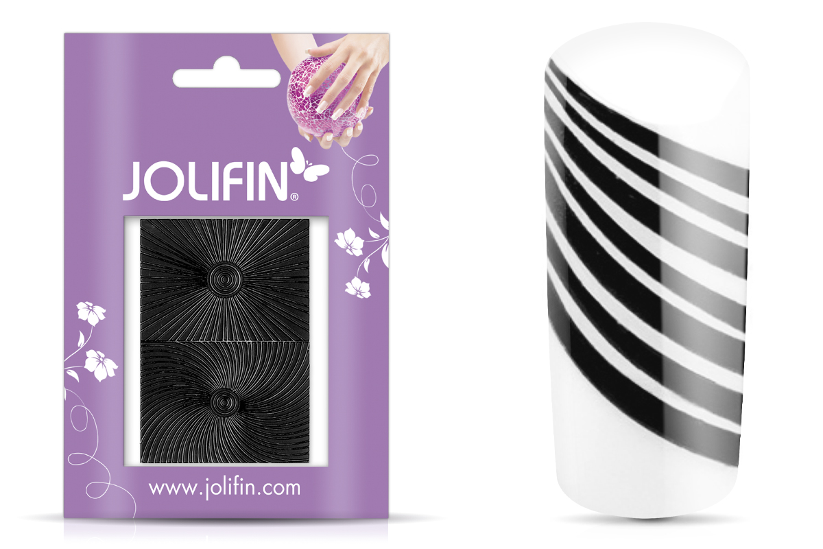 Jolifin Fancy Nail Sticker black 2