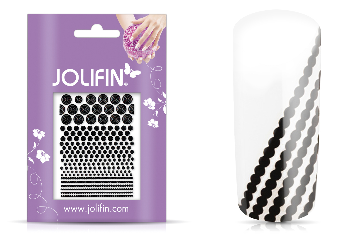 Jolifin Fancy Nail Sticker black 3