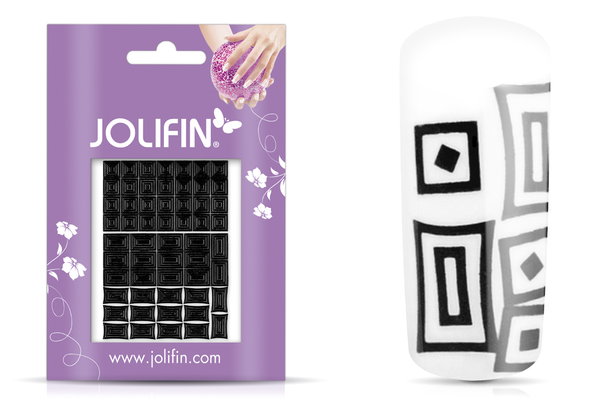 Jolifin Fancy Nail Sticker black 6