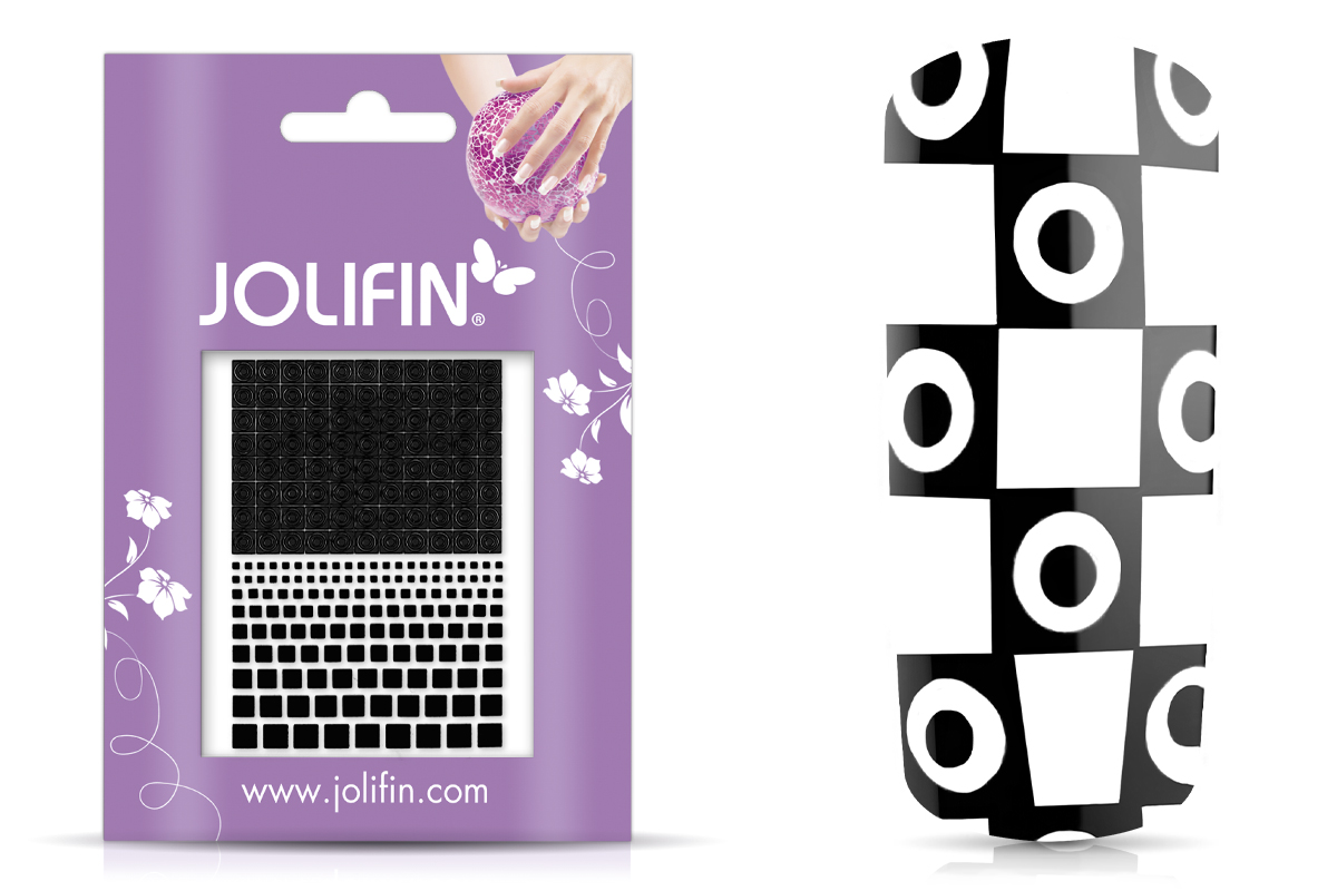 Jolifin Fancy Nail Sticker black 8