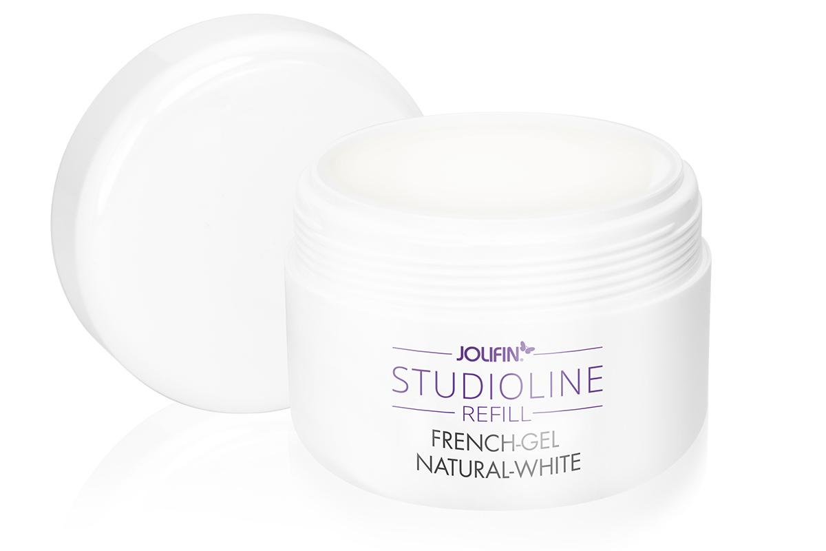 Jolifin Studioline Refill - French-Gel natural-white 250ml