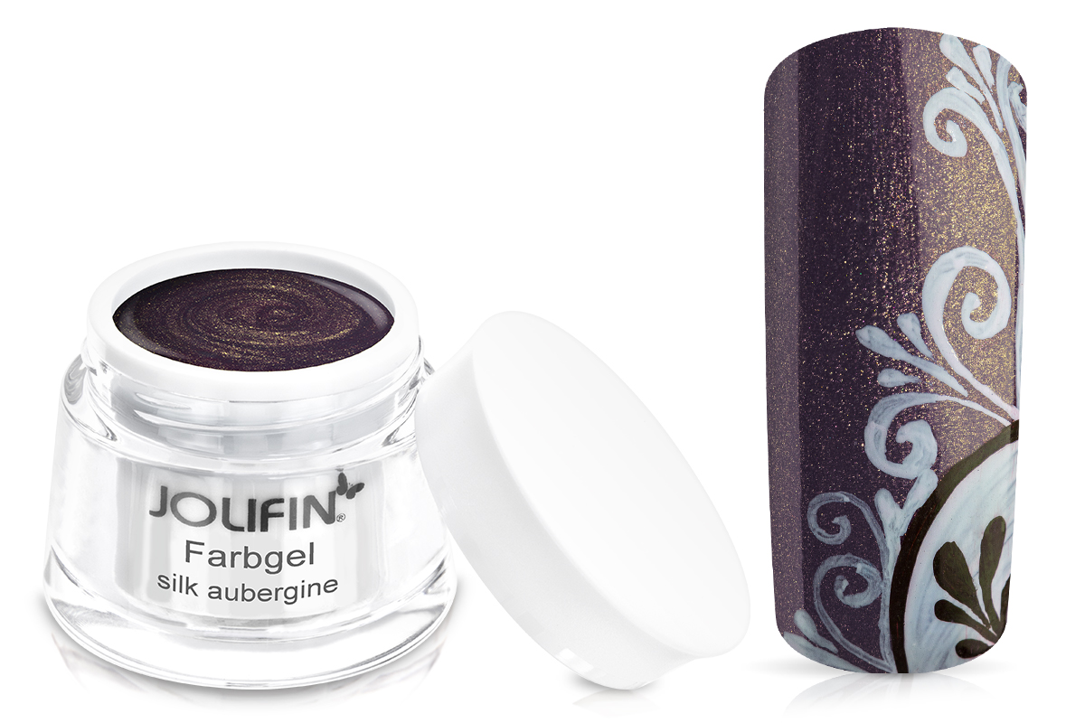 Jolifin Farbgel silk aubergine 5ml