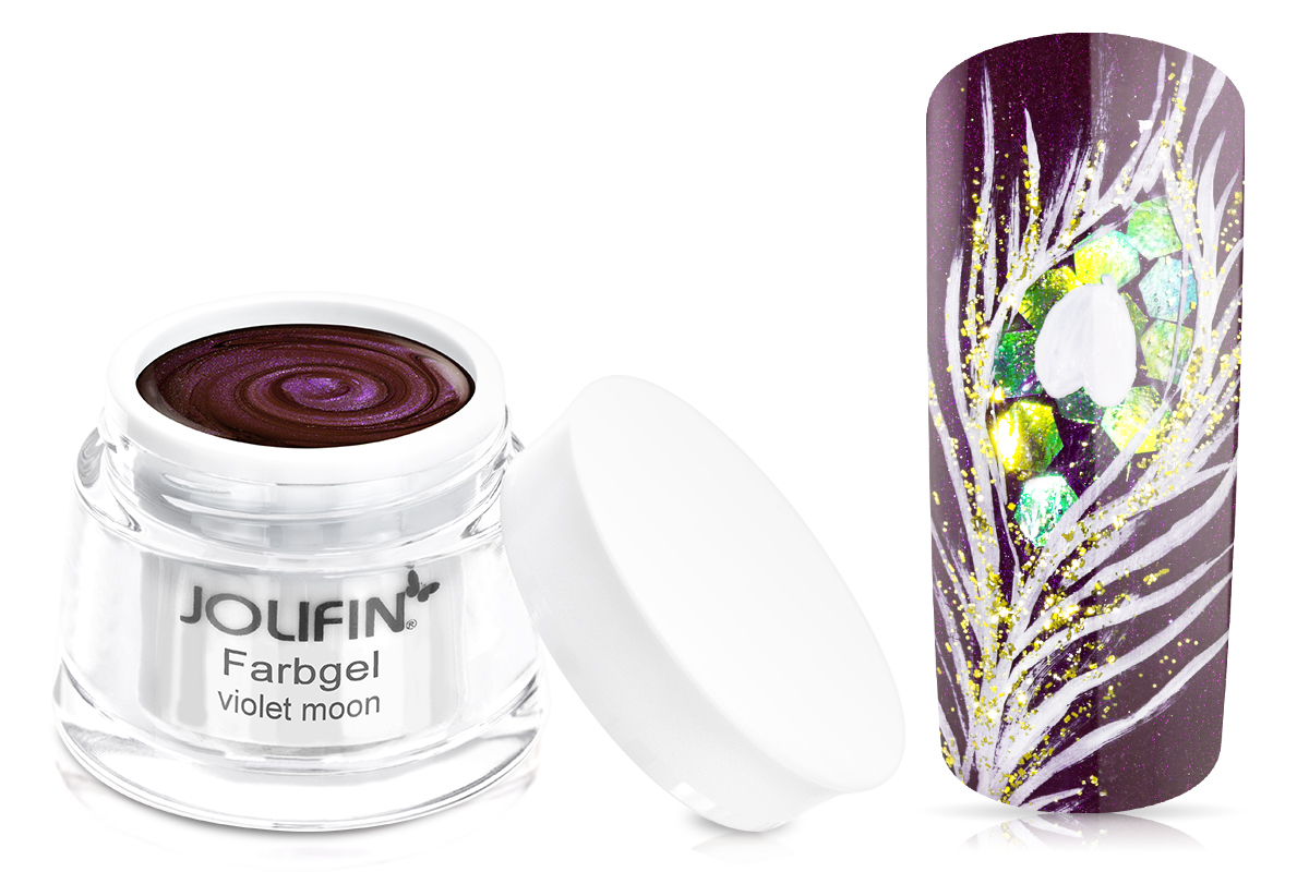 Jolifin Farbgel 4plus violet moon 5ml