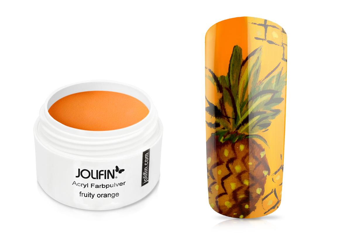 Jolifin Acryl Farbpulver fruity orange 5g