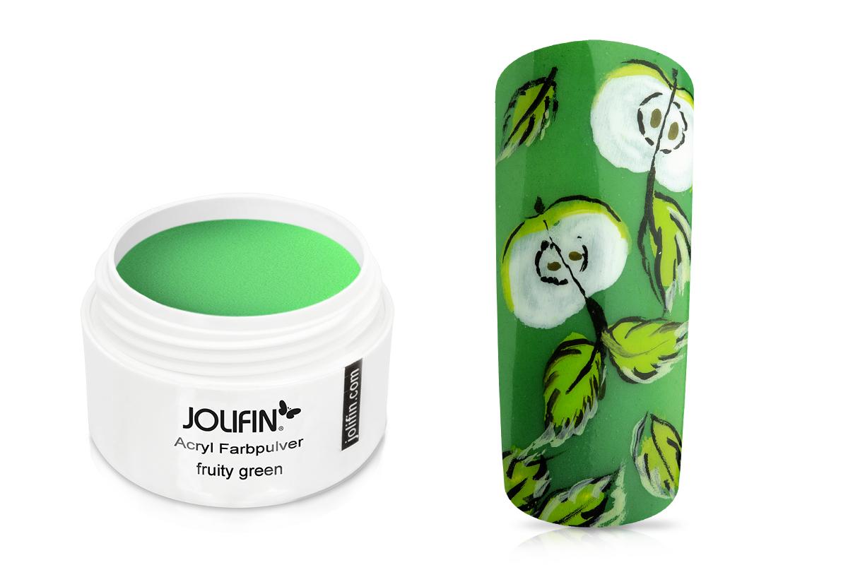 Jolifin Acryl Farbpulver - fruity green 5g