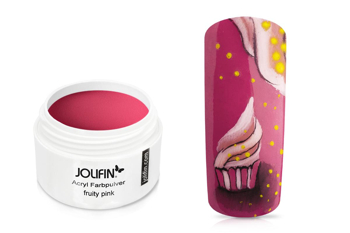 Jolifin Acryl Farbpulver - fruity pink 5g