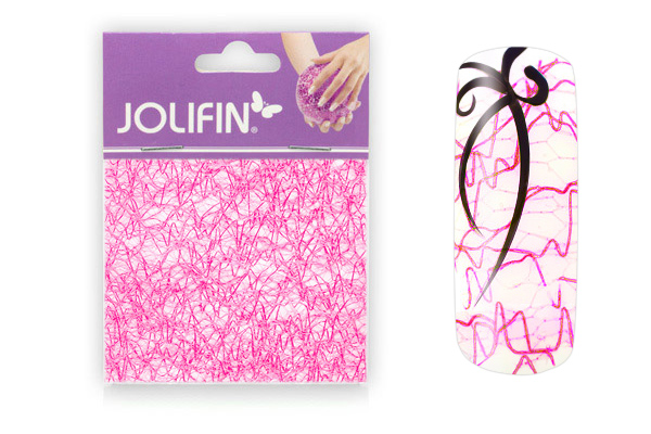 Jolifin Nailart spiderweb pink